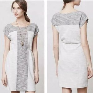 Anthropologie Edme & Estylle M Gray spacedye dress